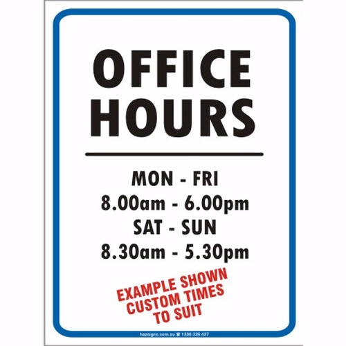 Store hours template word zrom accmission Images